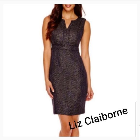 Liz Claiborne tweed sheath dress. Sz 16
